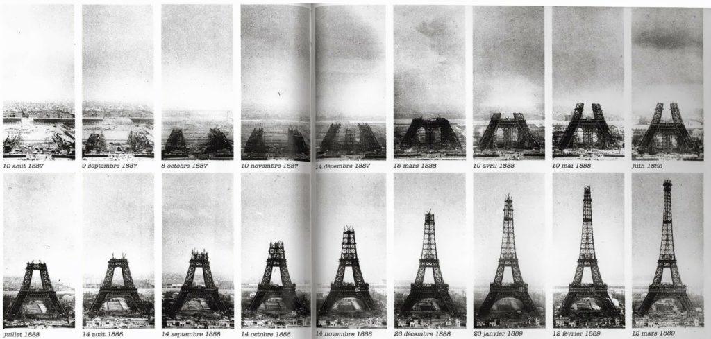 Wieża Eiffla budowa
