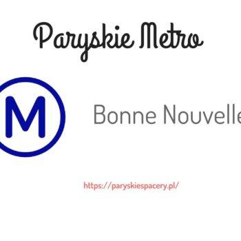 paryskia stacja Bonne Nouvelle