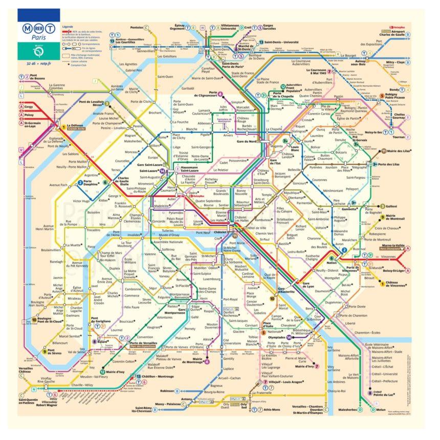 mapa paryskiego metra…nowa mapa
