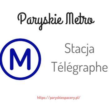 stacja Télégraphe w Paryżu