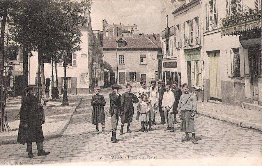 Montmartre, Place du tertre, rok 1900
